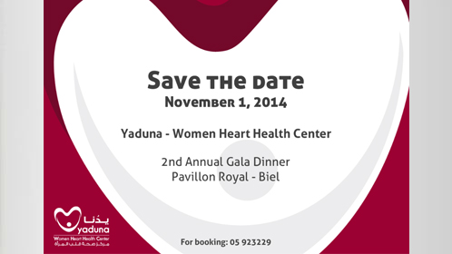 Save the date:  Gala Dinner 2014